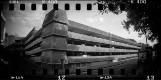 Westgate Car Park, Oxford Lomography Sprocket Rocket, Kentmere 400