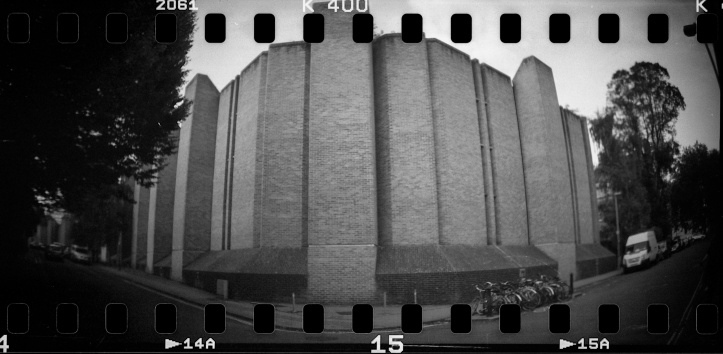 Keble College, Oxford Lomography Sprocket Rocket, Kentmere 400
