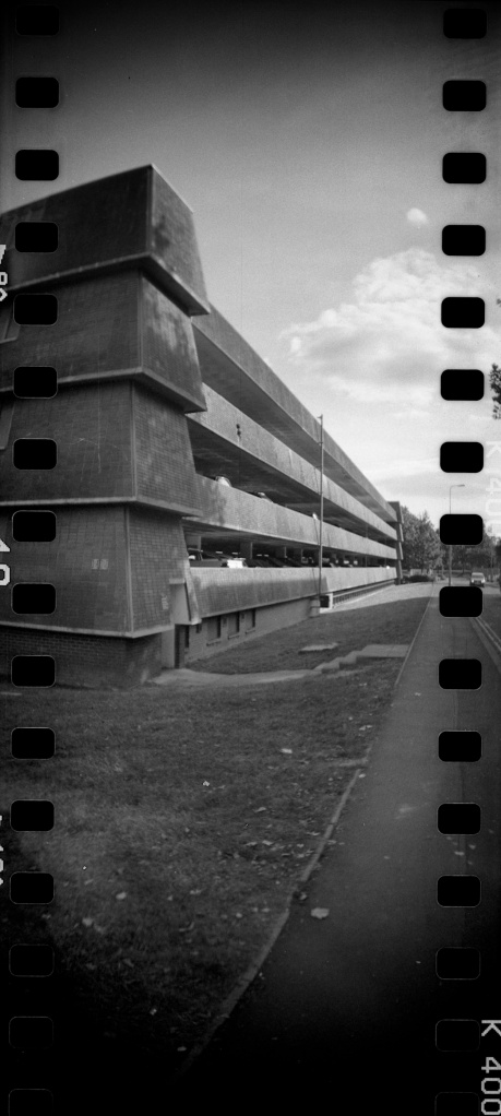 Westgate Car Park, Oxford Lomography Sprocket Rocket, Kentmere 400