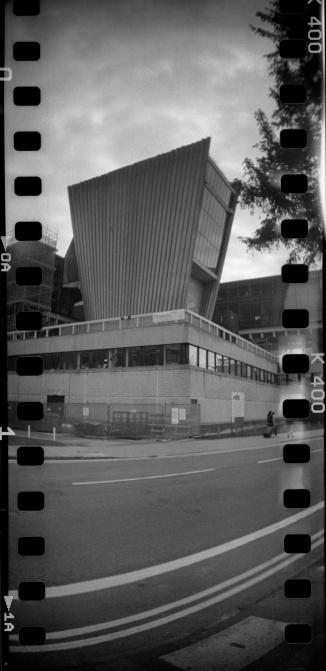 Denys Wilkinson Building, Lomography Sprocket Rocket, Kentmere 400