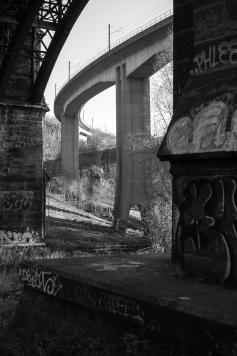 The Byker Metro bridge over the Ouseburn